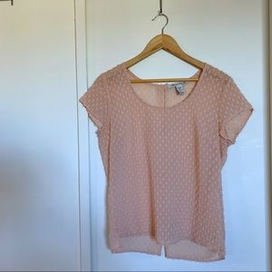 American Rag dusty pink bow back blouse